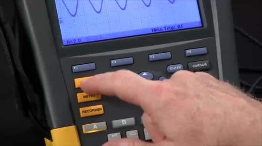 How To Use the Recording Function On the Fluke ScopeMeter Test Tools