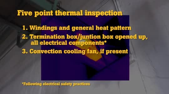 Top Five Thermal Inspection Points on a Motor