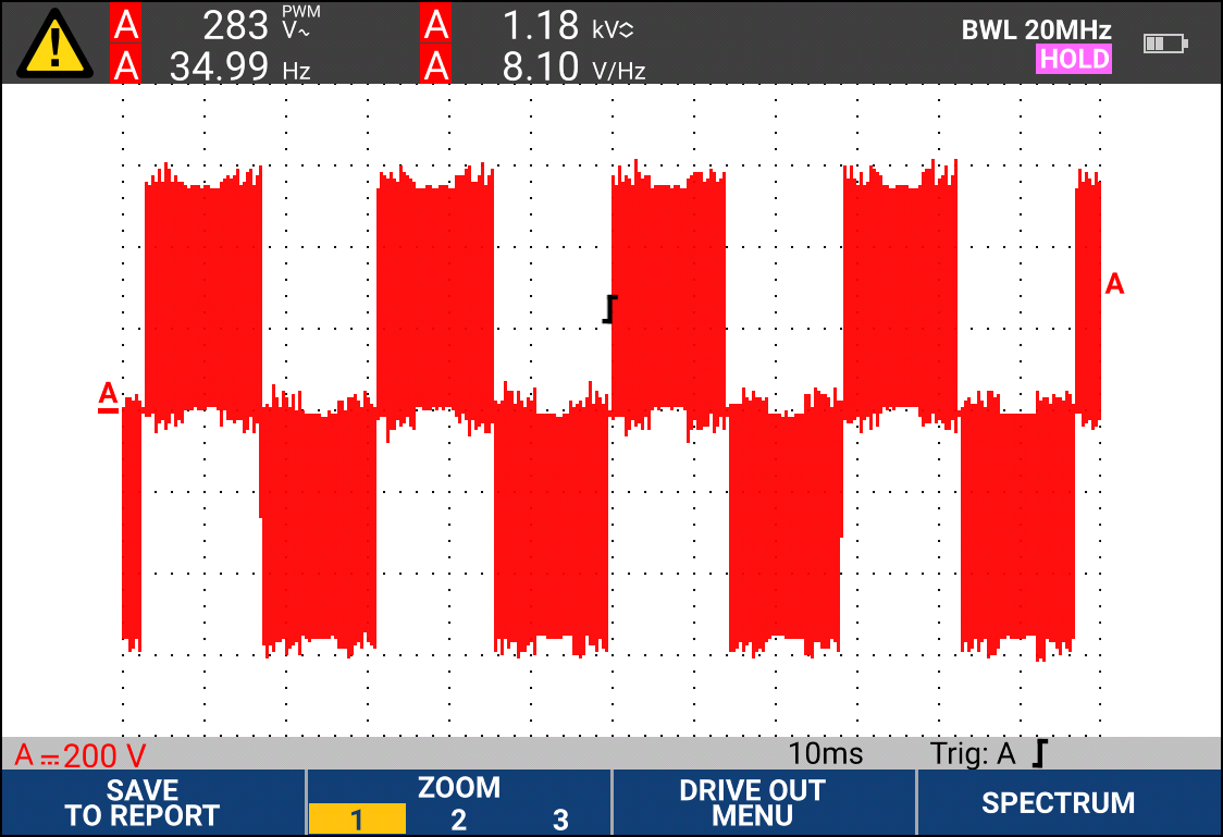 Drive output waveform with auto triggering