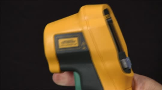 如何在fluke 62MAX红外测温仪上设置激光器