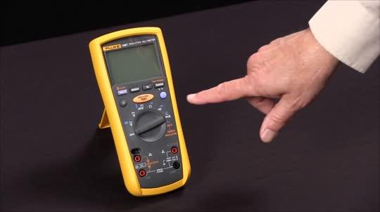 如何使用Fluke 1587绝缘万用表测试绝缘电阻