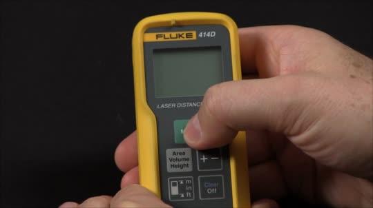 如何使用福禄克测距仪测量距离、面积和体积