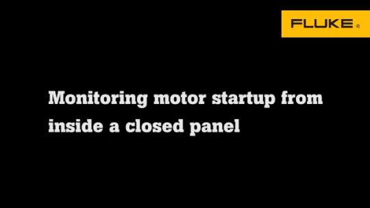 Video: Monitoring motor startup within a closed panel