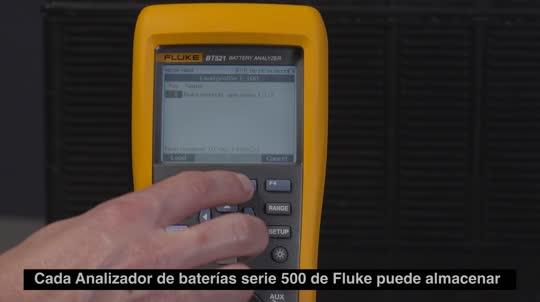 Fluke BT500 系列蓄电池内阻分析仪使用说明:创建设备档案