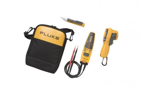 Fluke 62 MAX+/T+PRO/1AC IR Thermometer, T+PRO Voltage Continuity Tester and Voltage Detector Kit