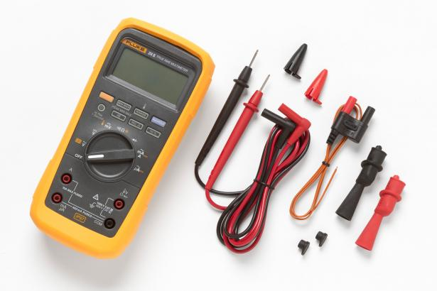 Fluke 28 II Rugged Digital Multimeter with leads, clips, temperature probe