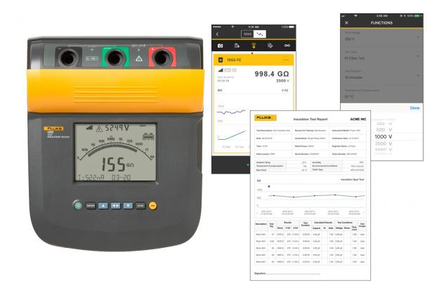 Fluke Connect allows remote operation, real-time trending, drag and drop reporting