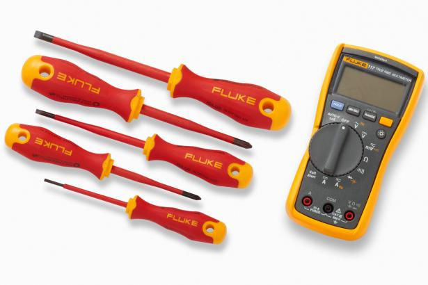 F-117 Multimeter plus insulated hand tools starter kit
