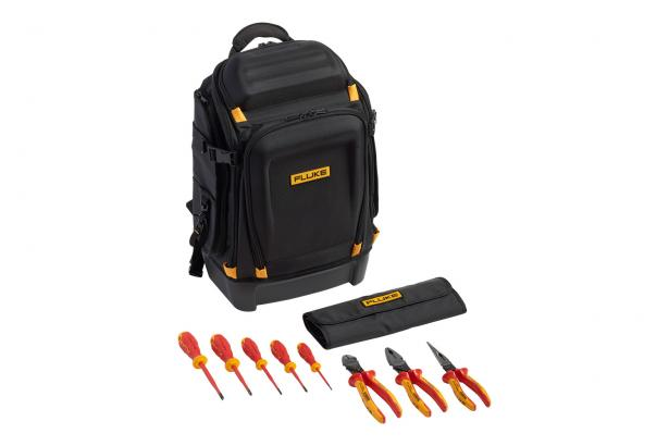 Fluke Pack30 professional tool backpack plus insulated hand tools starter kit