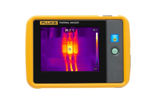 Pocket Thermal Imager back view with thermal image displayed