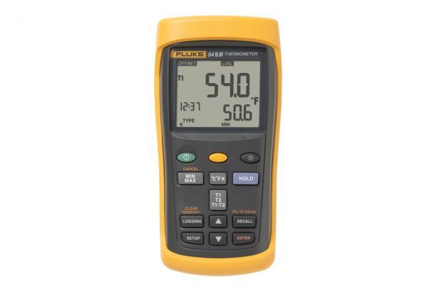Fluke 54 II B Dual Input Digital Thermometer with Data Logging