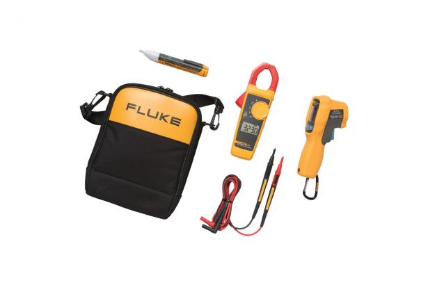 Fluke 62 MAX+-323-1AC IR Thermometer Clamp Meter And Voltage Detector Kit | Fluke